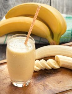 Protein banana smoothie great for breakfast for any meal replacement