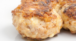 Chicken meatballs are perfect for a mid-day snack or to add to a meal